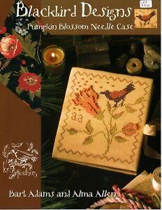 Blackbird Designs Pumpkin Blossom Needle Case OOP Loose Feathers Autumn Harvest
