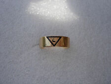ANTIQUE  14K  YELLOW GOLD ENAMEL  mans Masonic Scottish Rite 14th degree RING  8