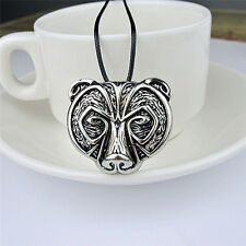 Hot Bear Head Amulet Pendant Necklace Norse Viking Necklace Talisman Jewelry HU