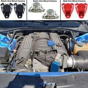 Strut Cap Covers Dodge 2005-2021 Challenger Charger 300 Billet Blue Anodized