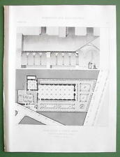 ARCHITECTURE PRINT : France Ancient Hospital of St. Louis at Angers