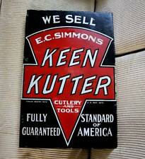 1920's Keen Kutter porcelain flange display sign, very old and good condition **