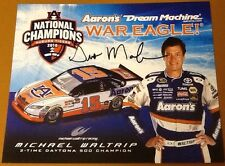 Gus Malzahn Signed 8x10 Auburn Tigers nascar national champs hero card W / COA