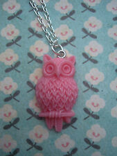 ♥ FUNKY PINK Wise Owl Collana Kitsch Carino Uccello retrò vintage cameo stlye ALICE ♥