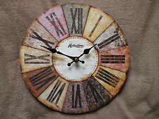 ART DECO STYLE ROUND WALL CLOCK. NEW AND BOXED.