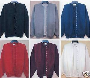 LADIES 50/50 POLY/COTTON ONE-SIZE SNAP-FRONT FLEECE CARDIGAN JACKET NWT