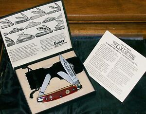 Boker Red Bone Collector Knife #9652 W/Both Shields RARE W/Packaging & Paperwork