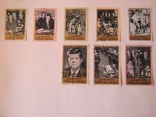Umm Al Qiwain 1965 Kennedy Set of 8 Sg 26 - 33 Used