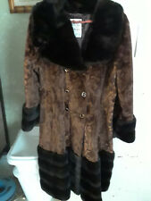 Vintage Lykafur Coat Exclusive for Priscilla Modes NY & London Made in England