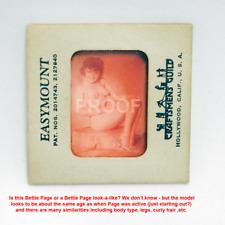 VINTAGE ORIGINAL PHOTO TRANSPARENCY SLIDE NUDE FEMALE BETTIE PAGE or LOOKaLIKE?