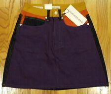 Calvin Klein Women's Colorblock Mini A-Line Skirt Size 27 Purple $128