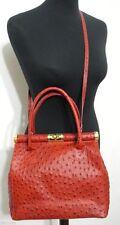 Damentaschen aus Leder mit zwei abnehmbaren Trageriemen und Kroko-Prägung