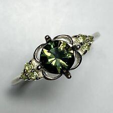 Natural Kornerupine green brown 925 Silver, 9ct 14k 18k 375 585 750 Gold ring