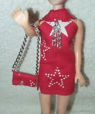 Topper Dawn Doll Red Mini & Purse Set With Stars Item 84