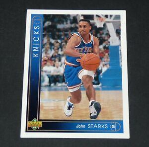 JOHN STARKS NEW YORK KNICKS 1993-1994 NBA BASKETBALL UPPER DECK CARD