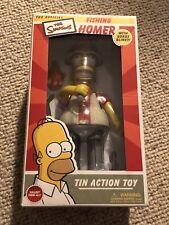 The Simpsons - Fishing Homer Simpson Tin Action Toy - Rocket USA (2003) - MIB