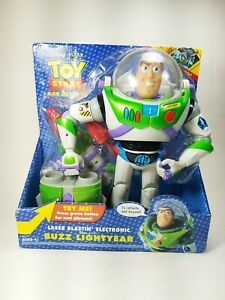 "Hasbro Talking Buzz Lightyear Laser Blastin 12"" Figure With Shooter 2004 Vintage"