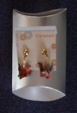 NIB Japanese Multi-color Paper Crane Pierced Dangle Post Earrings (Disney Epcot)