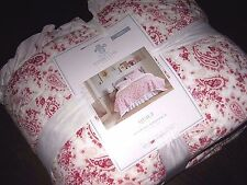 NWT Simply Shabby Chic Red & White COUNTRY PAISLEY Quilt Queen/ King Size