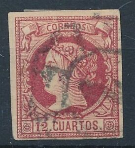 [52792] Spain 1860 good Used Very Fine classical stamp