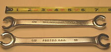 """2 NEW PROTO USA made 3786T Flare Nut Wrenches  1/2"""" & 9/16"""" Openings WR13C.B.1"""