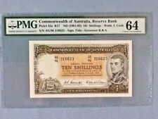 Australia 10 Shillings P-33-A ND(1961-65)  PMG 64