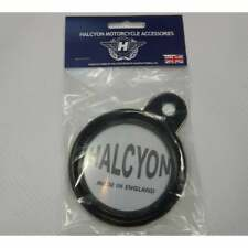 Halcyon Tax Disc Holder Black Motorbike Classic Vintage