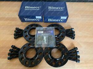 2x 12mm 2x 15mm Bimecc Wheel Spacers & Bolts Locks - VW Caddy / Golf / Jetta (R)