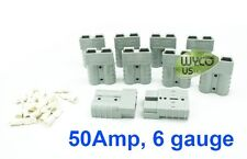 10 SMALL GRAY ANDERSON CONNECTORS SB50, #6 GAUGE, FLOOR SCRUBBERS, FREE SHIPPING