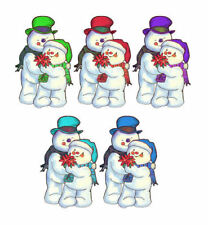 Christmas Snowmen 3D Embellishments Card Making Toppers Crafting x 5