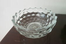Homco Glass Candy Dish Bowl (Cube Cubist Jeanette Fostoria American)