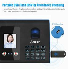 Biometric Time Attendance Machine Face Fingerprint Password System USB Clock In