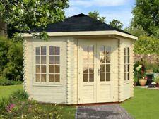 Palmako Gartenhaus Melanie 6,6 m² Holz 40 mm 300x300 cm Spitzdach Blockhaus
