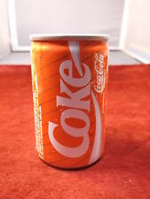 SMALL OLDER VTG ALUMINUM COCA-COLA COKE CAN (FULL), 150ml, PRODUCED IN HOLLAND