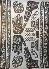 India/árabe Henna plantillas Tatuaje Temporal Mano Pie Body Art Pegatinas más reciente