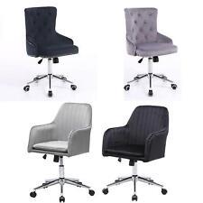 New 360 Swivel Adjustable Back Plush Velvet Home Office Chair UK STOCK