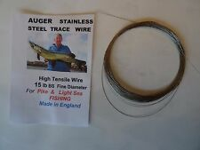 15 lb BS NYLON COVERED Stainless Steel  Fishing Wire made in England