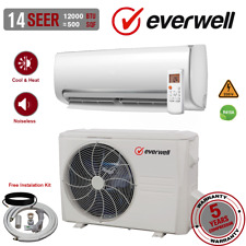 12000 Btu Air Conditioner Mini Split 14 Seer Inverter Ac Ductless Heat Pump 220V