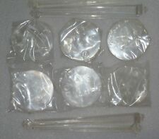 Stands For Barbie With Barbie Logo Clear Base Set Of Six Unboxed ~ Free U.S Ship