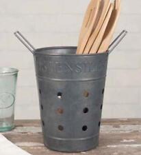 VINTAGE INSPIRED Metal UTENSILS BASKET CADDY--KITCHEN UTENSIL HOLDER/CADDY