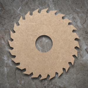 Large MDF Saw Blade Craft Wooden Shape Blank Wood 20 30 40cm Unpainted