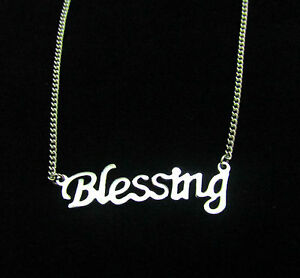 Stainless Steel Silver Word Blessing Necklace Graduation Birthday Gift Box