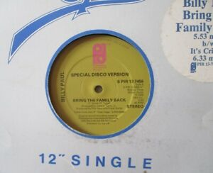 """BILLY PAUL - Bring The Family Back - 12"""" Single"""