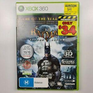 Batman : Arkham Asylum - Game of the Year - Manual - 3D Glasses - TRACKED POST