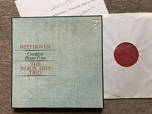 PHILIPS 6747 142 4LP STEREO UK BEETHOVEN COMPLETE PIANO TRIOS BEAUX ARTS TRIO NM