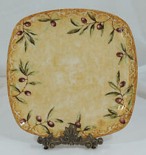 """Oliveto by 222 Fifth (PTS) Olives Embossed 1 Square Dinner Plate 11"""""""