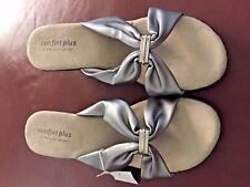 e969f9627c90 NEW Comfort Plus Shoes Predictions Silver Wedge Sandals silver buckle size  11