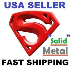 3D 【RED】 *SOLID METAL* Emblem 【 Superman 】 TYPE 【S】 Car Logo Badge Sticker Decal