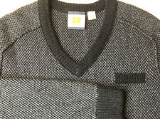 "Hugo Boss Orange ""Kaarlo"" Mens 100% Virgin Wool Multi-Color Sweater $142 XL"