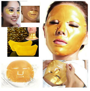 Crystal Collagen Gold Under Eye Mask Neck Lip Face Facial Anti Wrinkle Ageing